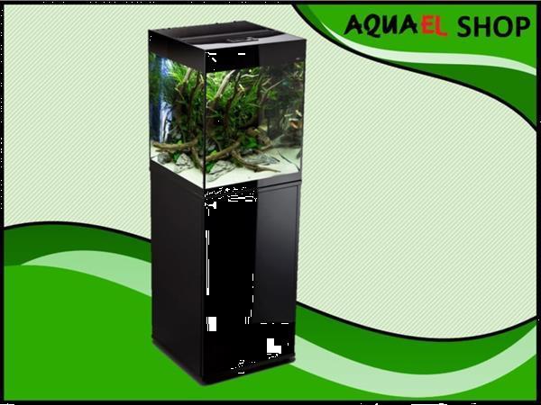 Grote foto aquael glossy cube 50 zwart aquarium dieren en toebehoren vissenkommen