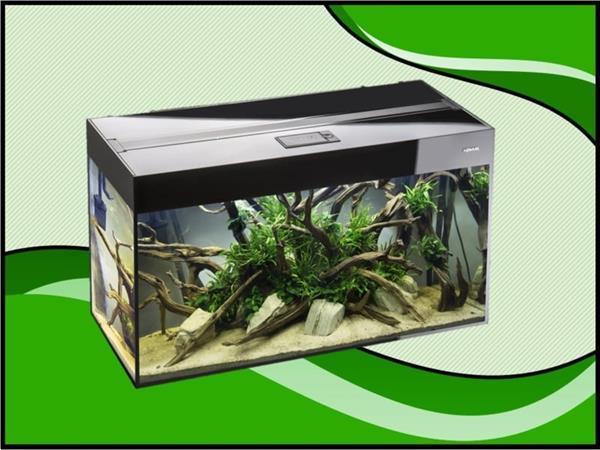 Grote foto aquael glossy 80 zwart aquarium dieren en toebehoren vissenkommen