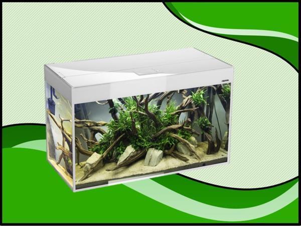 Grote foto aquael glossy 100 wit aquarium dieren en toebehoren vissenkommen