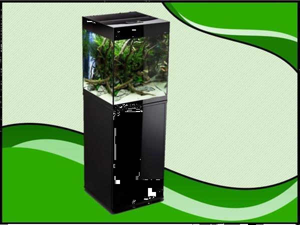 Grote foto aquael glossy 50 zwart aquarium set inclusief glossy meubel dieren en toebehoren vissenkommen