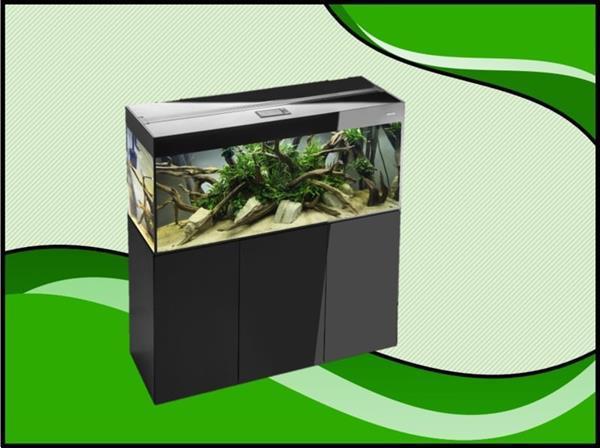 Grote foto aquael glossy 100 zwart aquarium set inclusief glossy meubel dieren en toebehoren vissenkommen