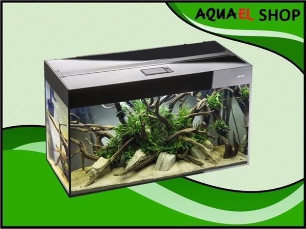 Grote foto aquael glossy 80 zwart aquarium set inclusief glossy meubel dieren en toebehoren vissenkommen