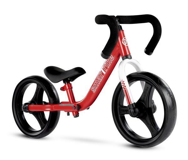 Grote foto opvouwbare loopfiets rood kinderen en baby los speelgoed
