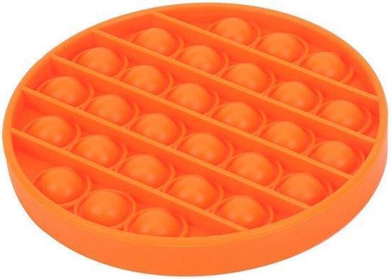 Grote foto pop it fidget toy simple dimple popit goedkoop rond oranje verzamelen overige verzamelingen