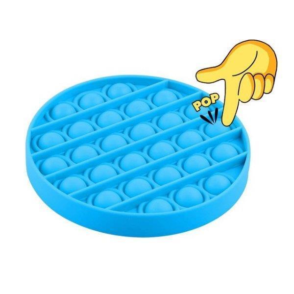 Grote foto pop it fidget toy simple dimple popit goedkoop rond blauw verzamelen overige verzamelingen
