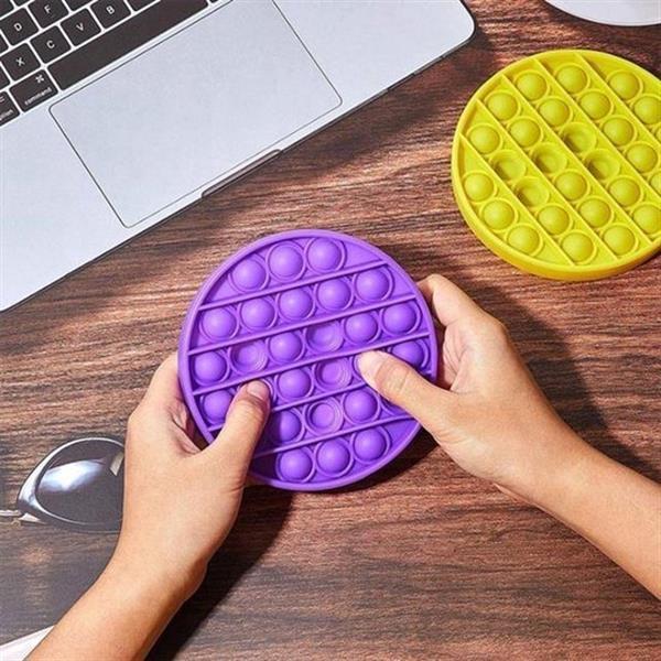Grote foto pop it fidget toy simple dimple popit goedkoop rond paars verzamelen overige verzamelingen