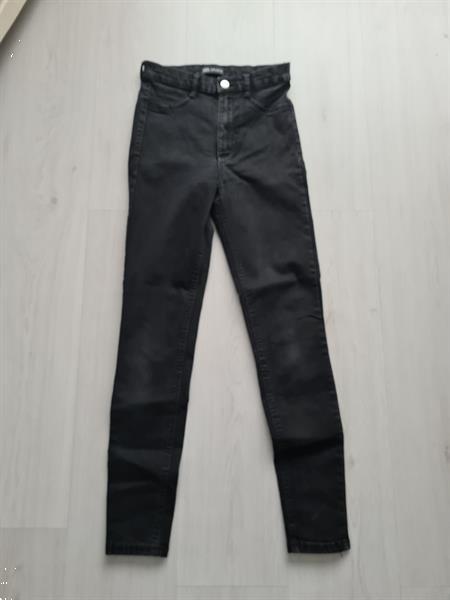 Grote foto spijkerbroek kleur grijs maat 34 zara kleding dames spijkerbroeken en jeans