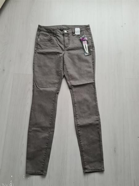 Grote foto grijse broek slim fit skinny leg maat 38 nieuw kleding dames broeken en pantalons