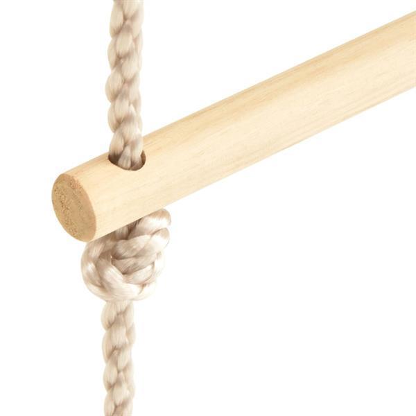 Grote foto vidaxl touwladder 30x168 cm massief hout en pe kinderen en baby babyspeelgoed