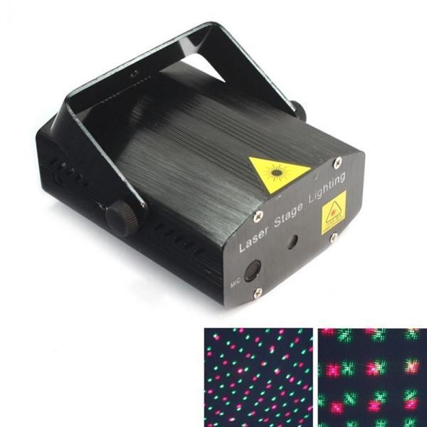 Grote foto mini laser show rood groen flash projector led disco zwart muziek en instrumenten overige muziek en instrumenten