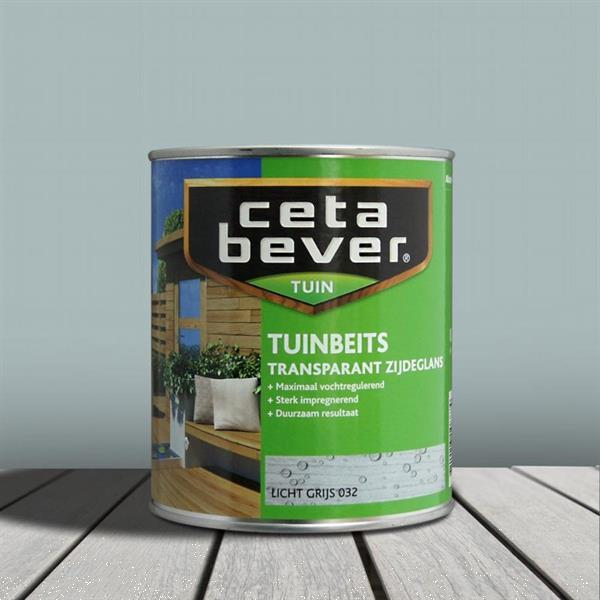 Grote foto cetabever tuinbeits licht grijs 032 750 ml doe het zelf en verbouw verven en sierpleisters
