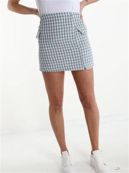 Grote foto baby blue cotton skirt s kleding dames jurken en rokken
