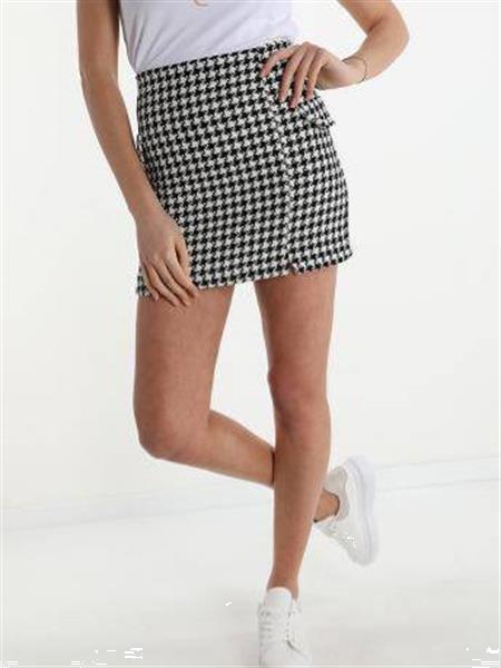 Grote foto black white cotton skirt m kleding dames jurken en rokken