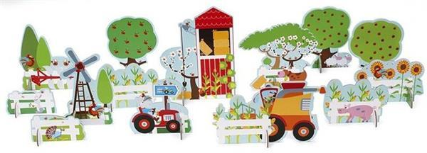 Grote foto speelset boerderij 14 delig kinderen en baby speelgoed voor jongens