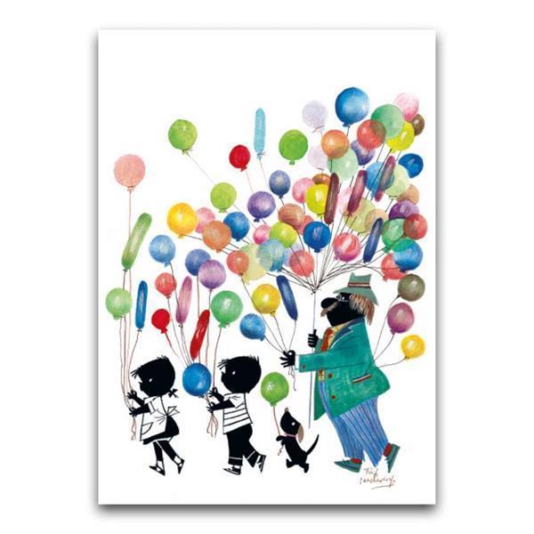 Grote foto jip en janneke met ballonnen dubbele wenskaart verzamelen overige verzamelingen