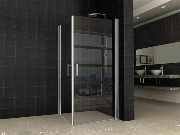Grote foto dubbele swingdeur uni 900 x 900 x 2000 mm8mm nano glas doe het zelf en verbouw sanitair