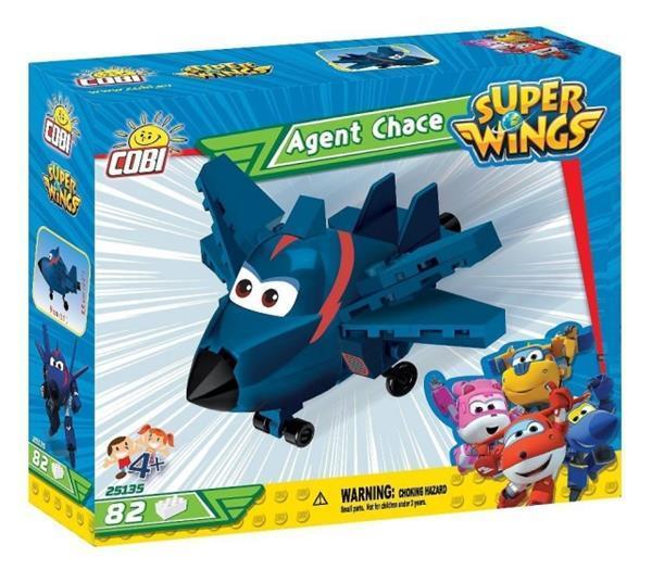 Grote foto super wings bouwpakket agent chase 82 delig 25135 kinderen en baby duplo en lego