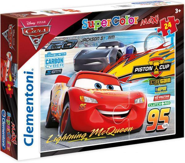 Grote foto legpuzzel cars 3 piston cup jongens karton 24 stukjes kinderen en baby puzzels