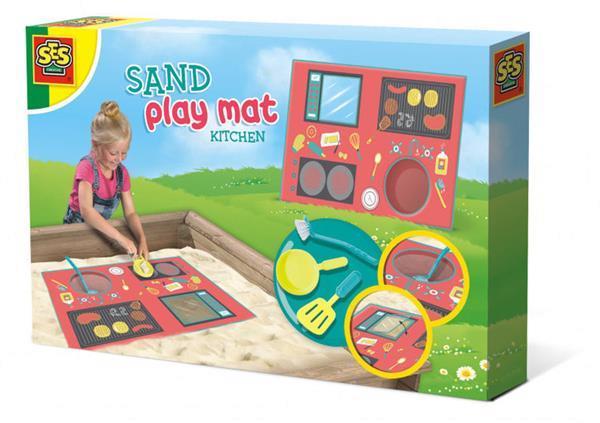 Grote foto zand speelmat keuken junior kunststof textiel 4 delig kinderen en baby los speelgoed
