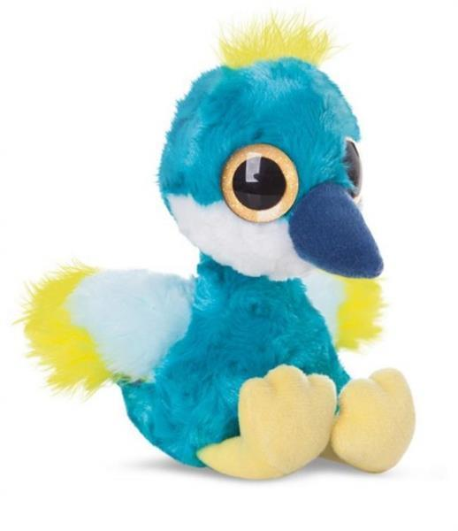 Grote foto knuffel yoohoo crownee kraanvogel blauw 20 cm kinderen en baby knuffels en pluche