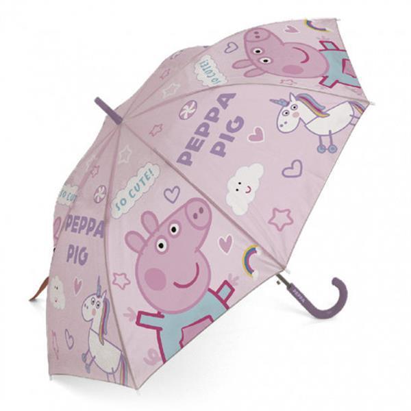 Grote foto paraplu peppa pig junior 48 cm lila roze kinderen en baby los speelgoed
