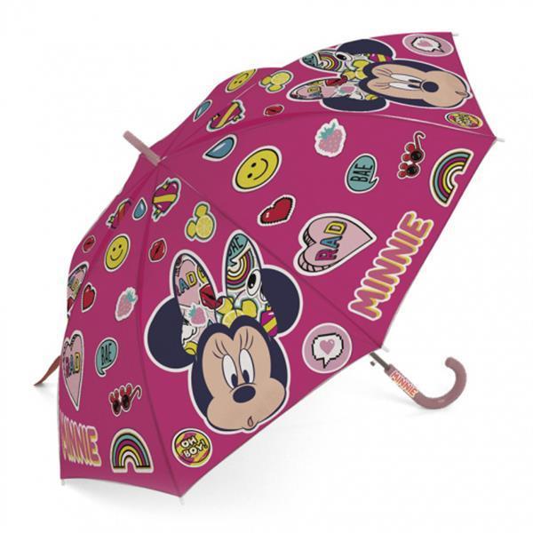 Grote foto paraplu minnie mouse junior 48 cm roze emoji kinderen en baby los speelgoed