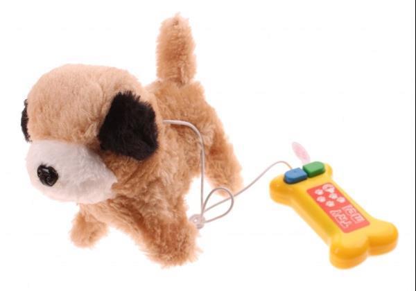 Grote foto puppy pet hond met afstandsbediening bont kinderen en baby knuffels en pluche