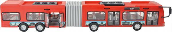 Grote foto stadsbus power team 49 x 12 cm rood grijs zwart kinderen en baby los speelgoed