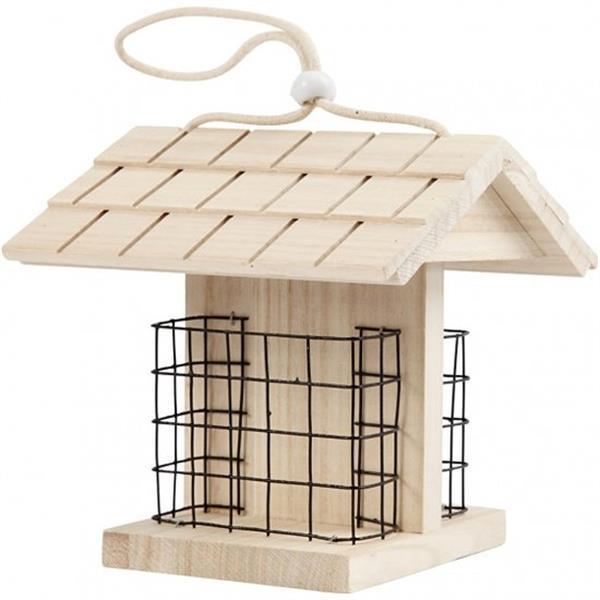 Grote foto vogelvoederhuis hout unisex 11 6 x 13 5 x 17 5 cm verzamelen overige verzamelingen