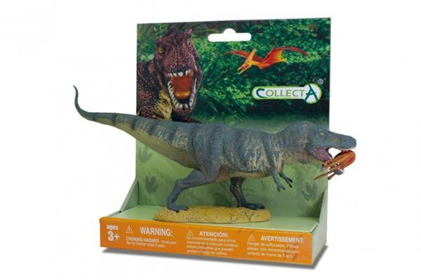 Grote foto prehistorie t rex met prooi speelfiguur groen kinderen en baby speelgoed voor jongens
