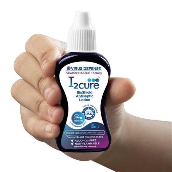 Grote foto i2cure bioshield antiseptic lotion covid defense 15ml beauty en gezondheid lichaamsverzorging