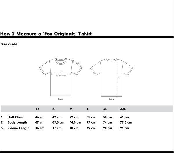 Grote foto fox originals essentials sunshine t shirt maat xs kleding heren t shirts