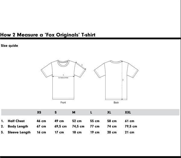 Grote foto fox originals essentials sunshine t shirt maat xl kleding heren t shirts