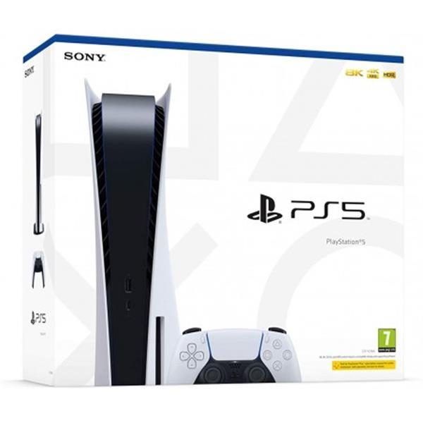 Grote foto sony ps5 standaard editie console spelcomputers games playstation