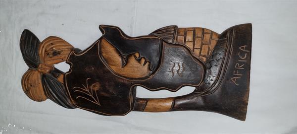 Grote foto oud gebeeldhouwd kunstvoorwerp uit west afrika diensten en vakmensen welzijn overige