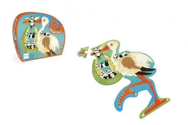 Grote foto legpuzzel ooievaar 51 9 cm karton groen 24 delig kinderen en baby puzzels