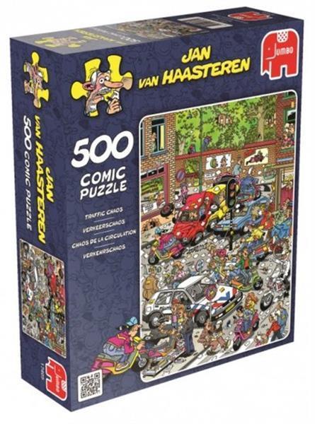 Grote foto legpuzzel jan van haasteren verkeerschaos 500 stukjes kinderen en baby puzzels