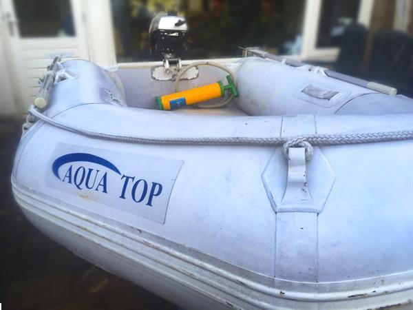 Grote foto rubberboot aqua top sd260 incl. honda 2pk 4 takt watersport en boten rubberboten