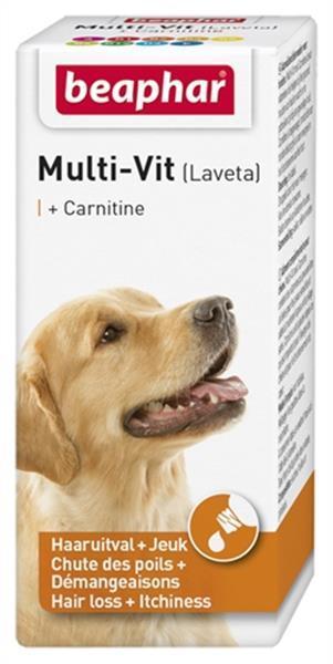 Grote foto beaphar multi vit laveta carnitine hond 20 ml dieren en toebehoren toebehoren