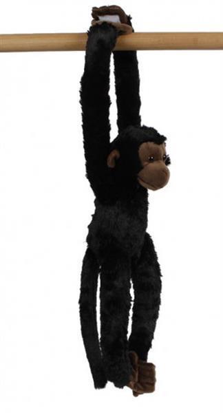 Grote foto knuffel aap junior 50 cm pluche donkerbruin kinderen en baby knuffels en pluche