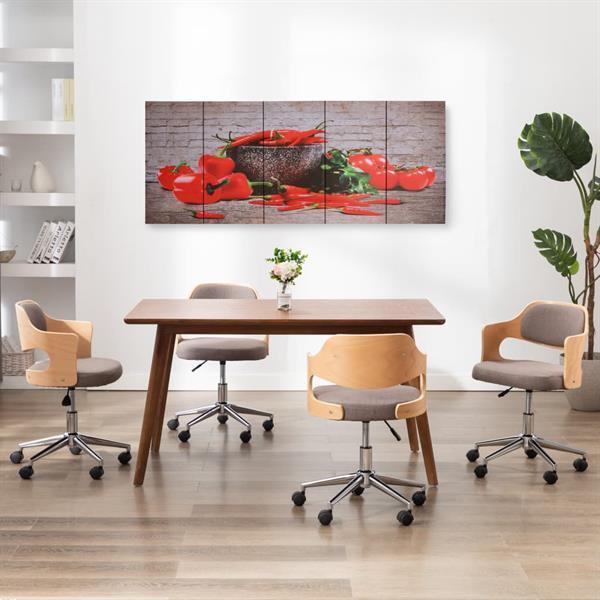 Grote foto wandprintset paprika 200x80 cm canvas meerkleurig verzamelen beelden en beeldjes