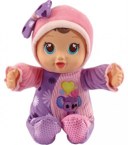 Grote foto babypop little love manou meisjes 33 cm roze paars kinderen en baby poppen