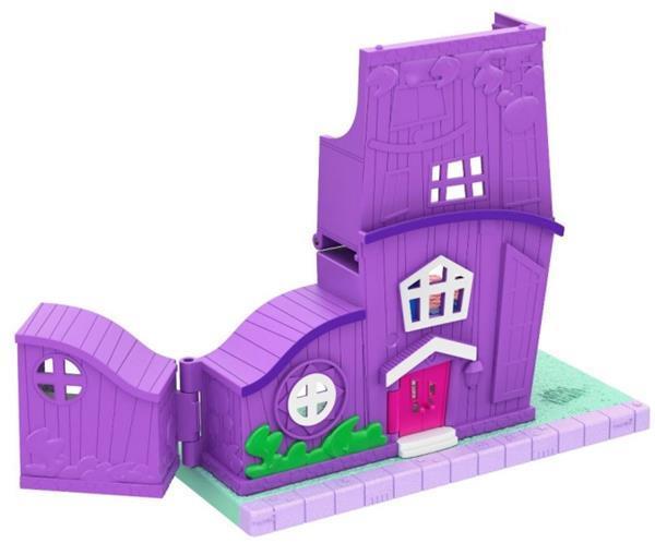 Grote foto het huis van polly 21 cm paars kinderen en baby speelgoed voor jongens