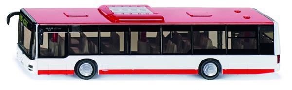 Grote foto man lion city stadsbus rood wit 3734 kinderen en baby los speelgoed