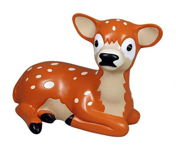 Grote foto spaarpot deer junior 20 5 x 12 x 14 cm polystone bruin kinderen en baby complete kinderkamers
