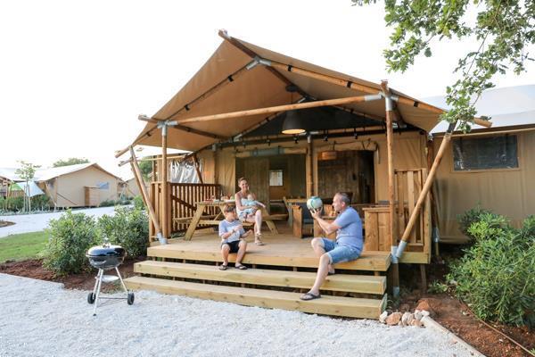 Grote foto safaritenten met sanitair in kroati vakantie kroati