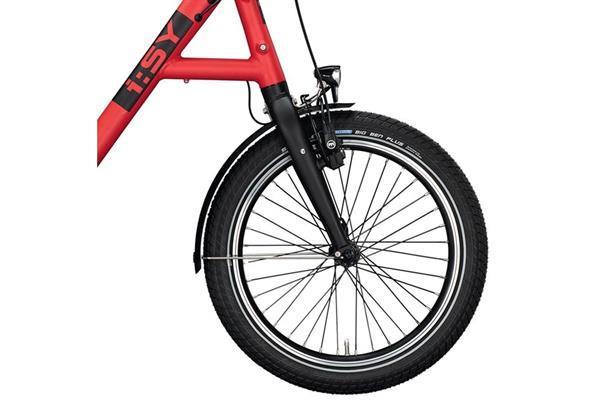 Grote foto i sy drive s8 e bike uni mat ferrarirot 20 inch bosch 400 wh fietsen en brommers elektrische fietsen