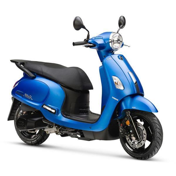 Grote foto sym fiddle iv 125 mat blauw bij central scooters kopen 28 fietsen en brommers scooters