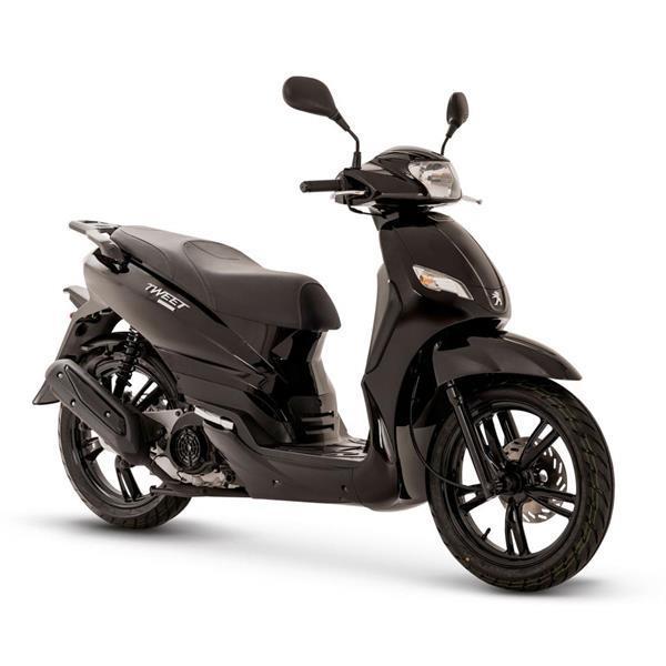 Grote foto peugeot tweet evo 125 black bij central scooters kopen 29 fietsen en brommers scooters