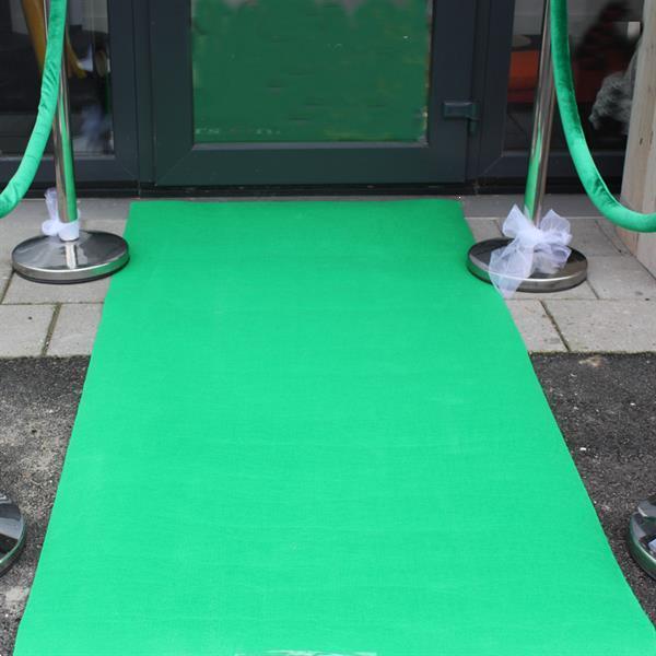 Grote foto groene lopers voor groen thema hobby en vrije tijd feestartikelen